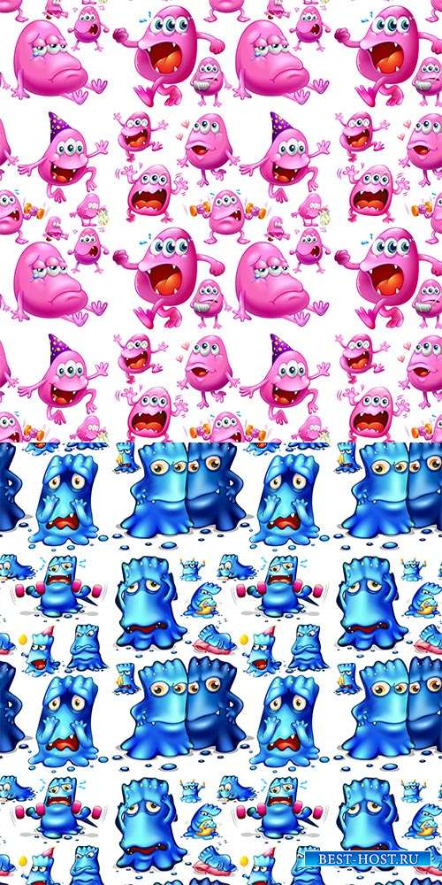 Бесшовные детские векторные фоны - Кадасики