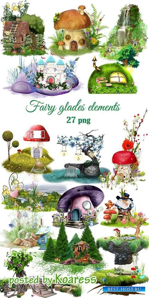 Клипарт png Элементы сказочных полян -  Png clipart  Fairy glades elements