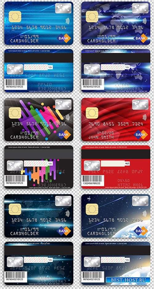 Шаблоны кредитных карт в векторе
