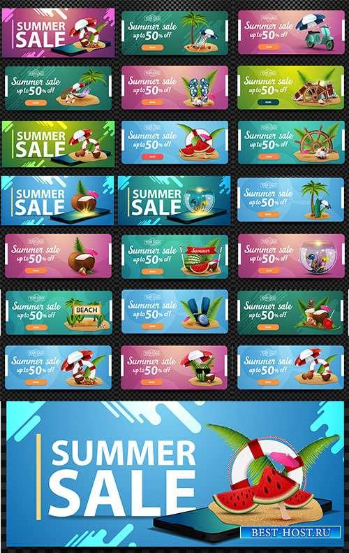 Благословенна летняя пора - 7 - Векторные летние баннеры