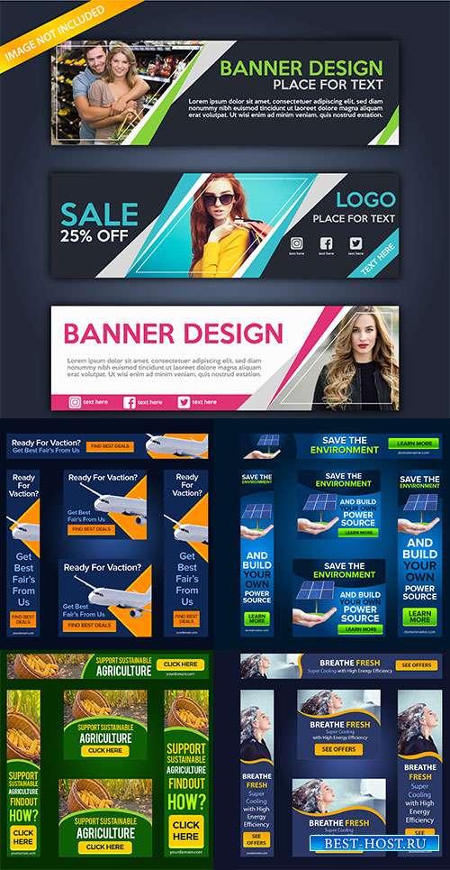 Шаблоны баннеров для сайтов в векторе