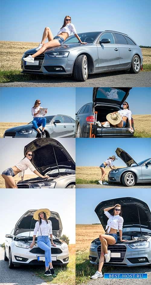Ворвись в лето на кабриолете - Фотоклипарт