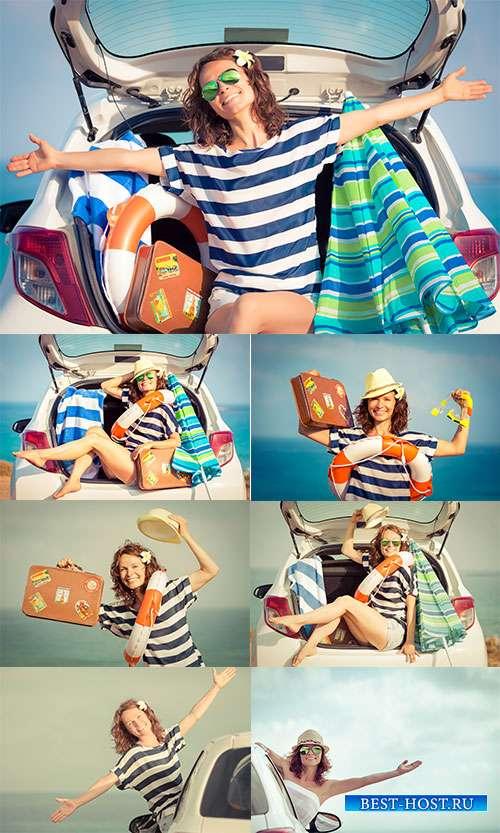 Оставлю на время ворох забот, соберу чемоданы и махну на курорт - Фотоклипарт