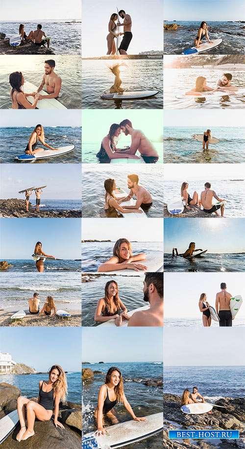 На морском берегу я тебя обниму - Фотоклипарт