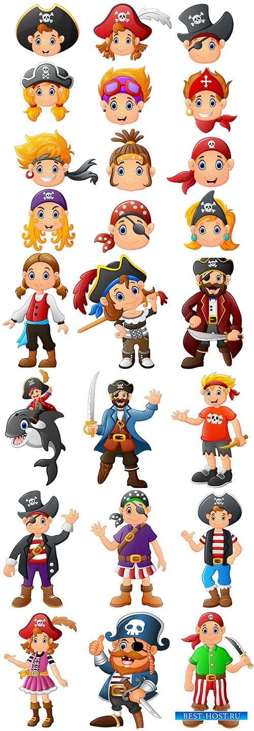 Пираты - отважные ребята - Векторный клипарт
