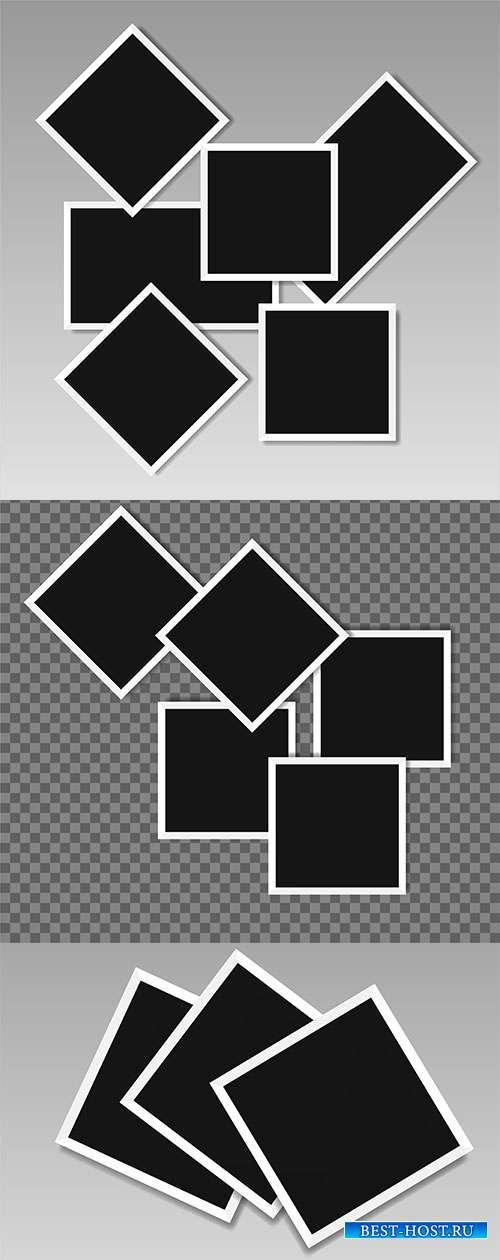 Рамки поляроидные в векторе