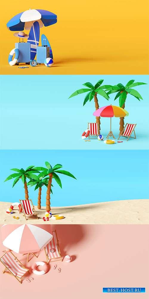 На море лето круглый год - Летний растровый клипарт