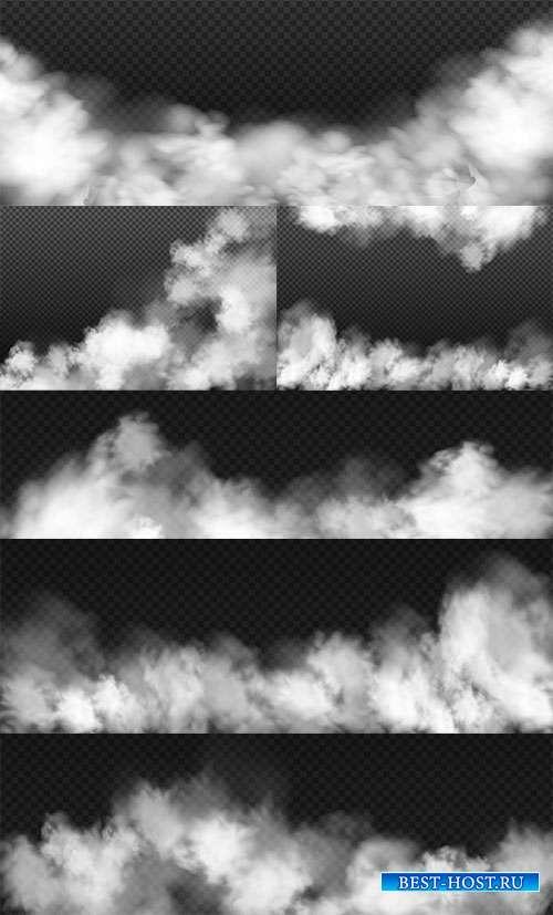 Белый туман - Векторный клипарт