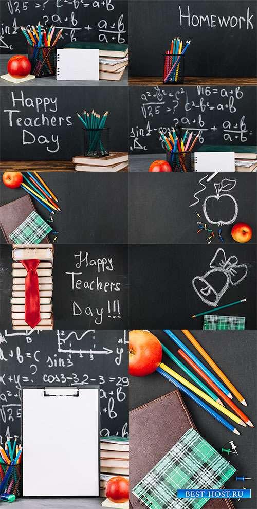 Школьная пора - Растровый школьный клипарт