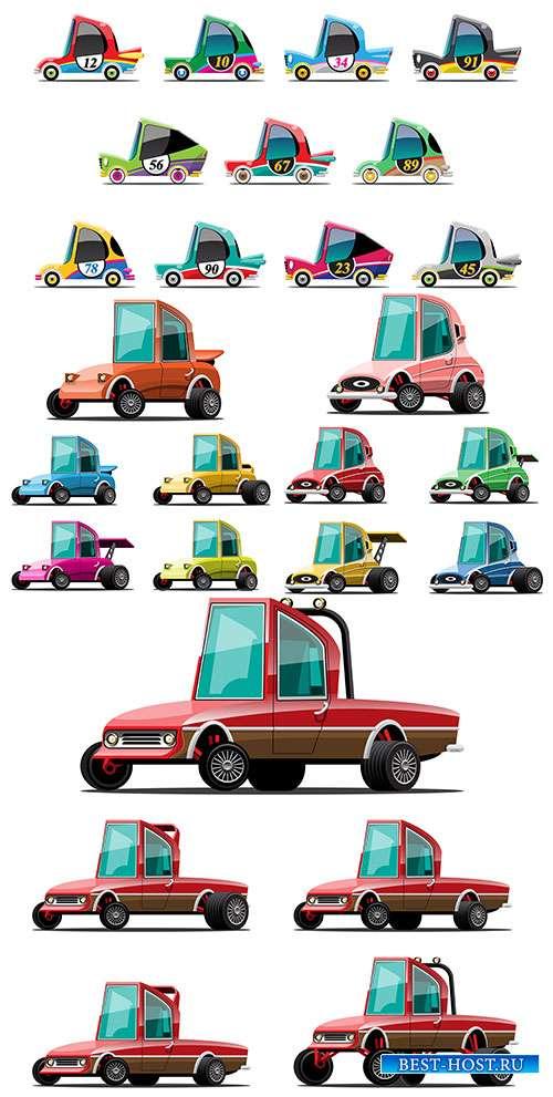 Электромобили - Автомобили, достойные внимания - Векторный клипарт
