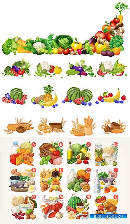 В плену солнечных фруктов и цитрусовых ароматов - Векторный клипарт
