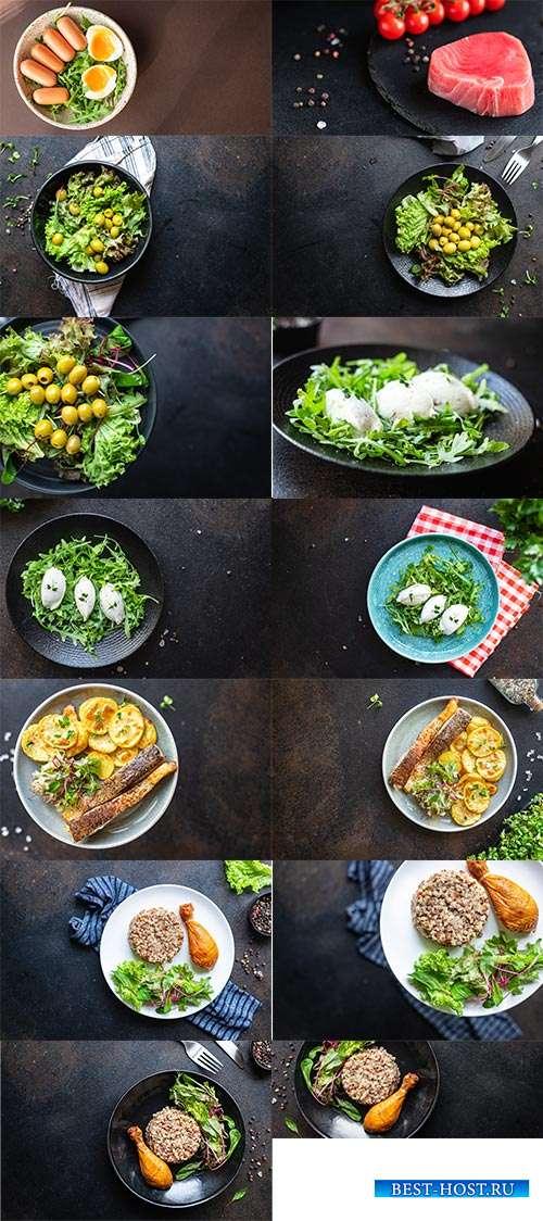 Блюда для гурманов - Растровый клипарт