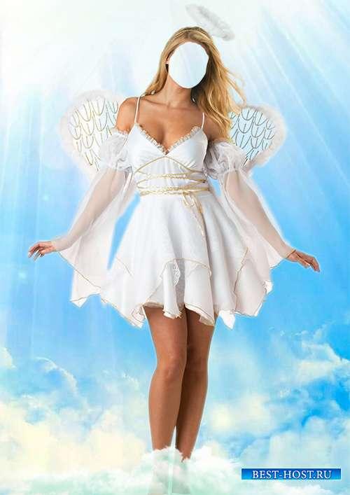 Женский шаблон psd - Прекрасный ангел