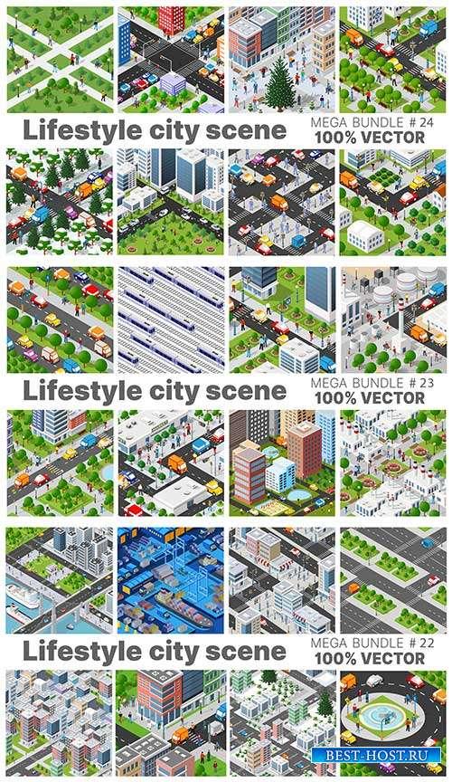 Шаблоны проектов урбанистики - Векторный клипарт