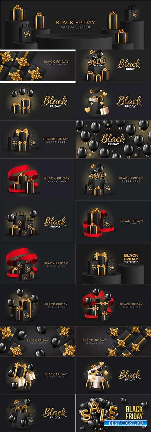 Фоны для распродаж чёрной пятницы - 2 - Векторный клипарт