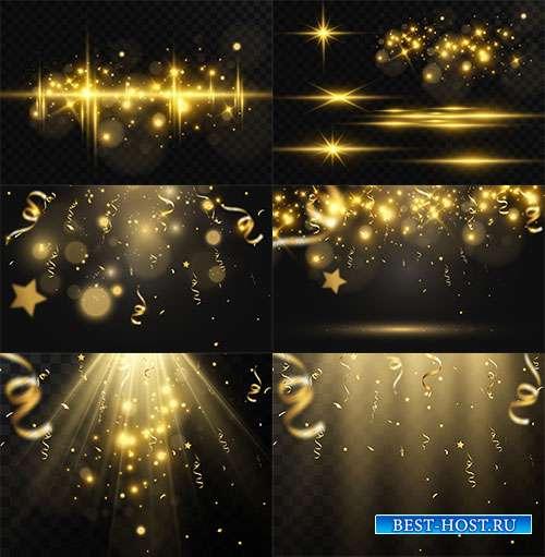 Золотой блеск света - Векторный клипарт
