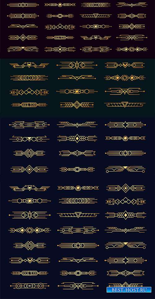Нежные элементы декора - Векторный клипарт