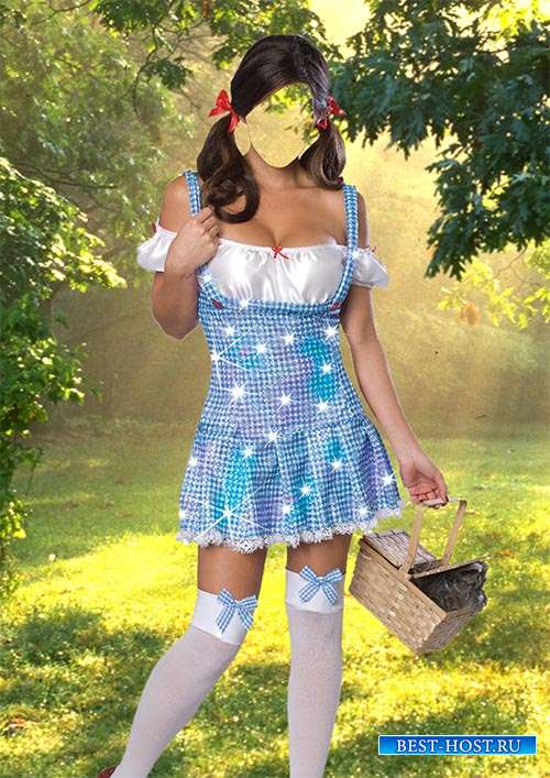 Женский фотошаблон — Милашка Дороти