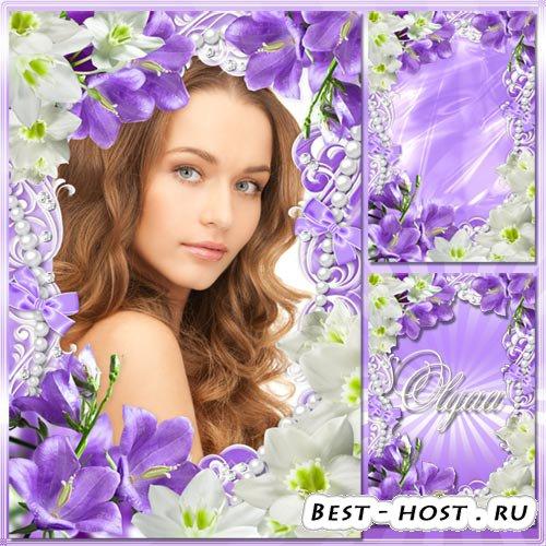 Весенняя рамка для фотошоп - Цветов прекрасных аромат дурманит