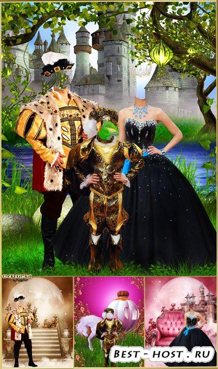 Многослойный psd шаблон - Королевская семья