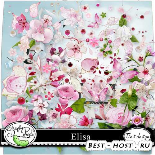 Яркий цветочный скрап-набор - Элиза. Scrap - Elisa
