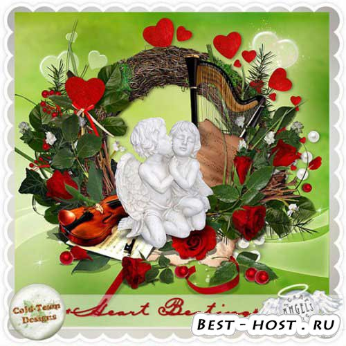 Романтический скрап-набор - Сердцебиение. Scrap - Heart beating