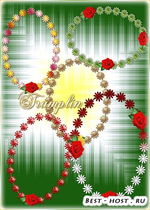 Рамки-вырезы с цветами