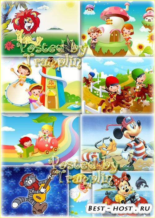 Детские фоны для работы и оформления коллажей в программе Фотошоп – Картинк ...