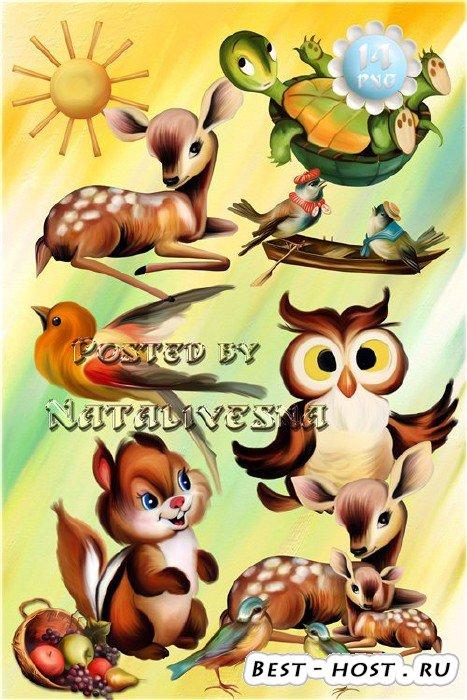 Детский клипарт – Лесные сказочные герои