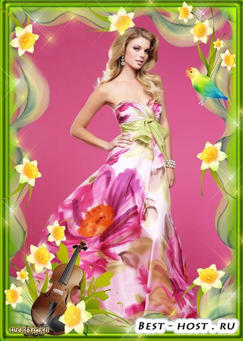 Цветочная рамка для фото - Мелодия цветов