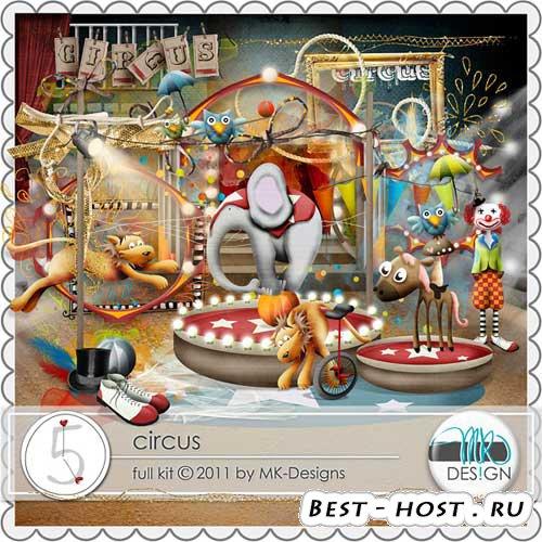 Детский скрап для оформления альбомов -набор - Цирк. Scrap - Circus
