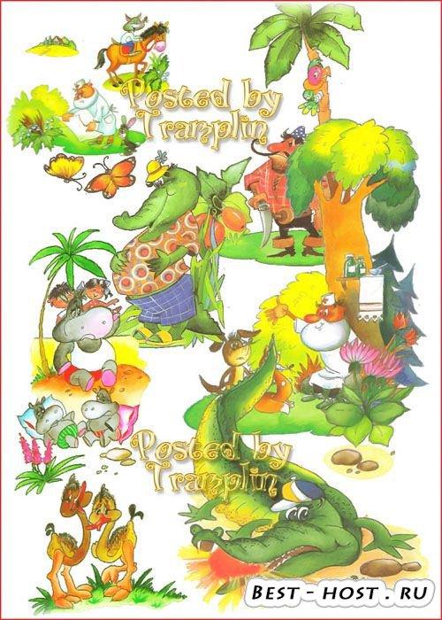 Клипарт в Png на прозрачном фоне – Иллюстрации к сказкам Чуковского-2