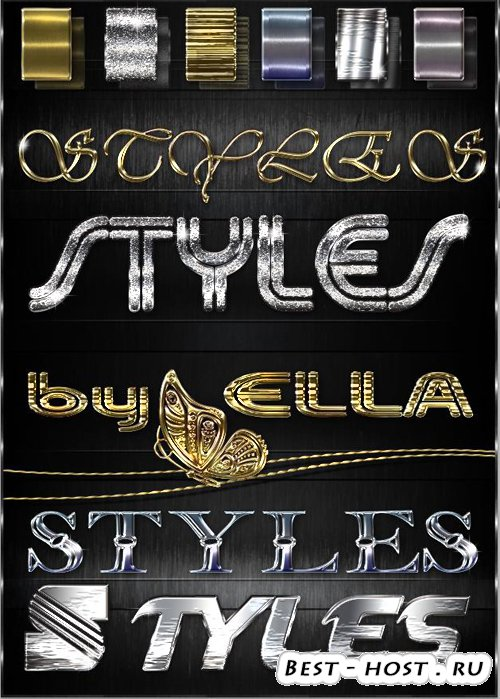 Шесть блестящих стилей цвета металла и бронзы