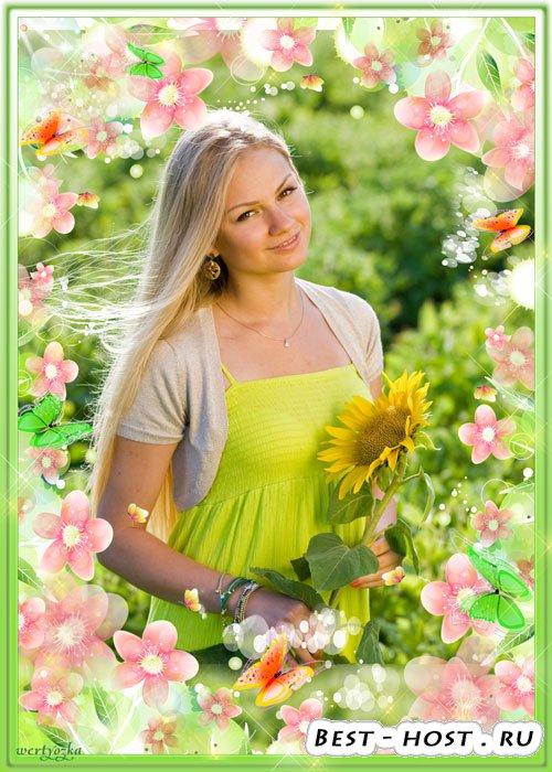Цветочная рамка для фото - Цветы творенье красоты