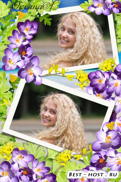 Рамка на 2 фото – Весеннее великолепие