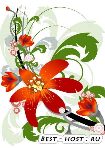 Клипарт - Vector flowers