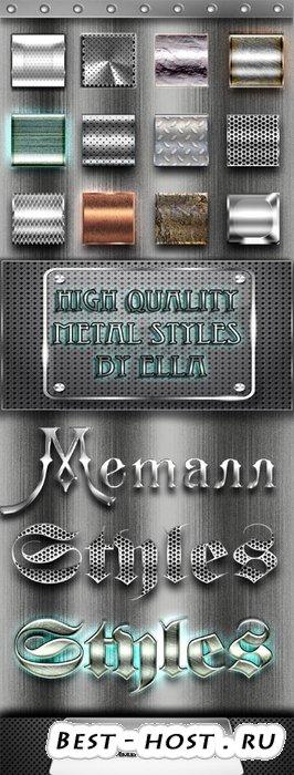 Высококачественные металлические стили для Фотошоп