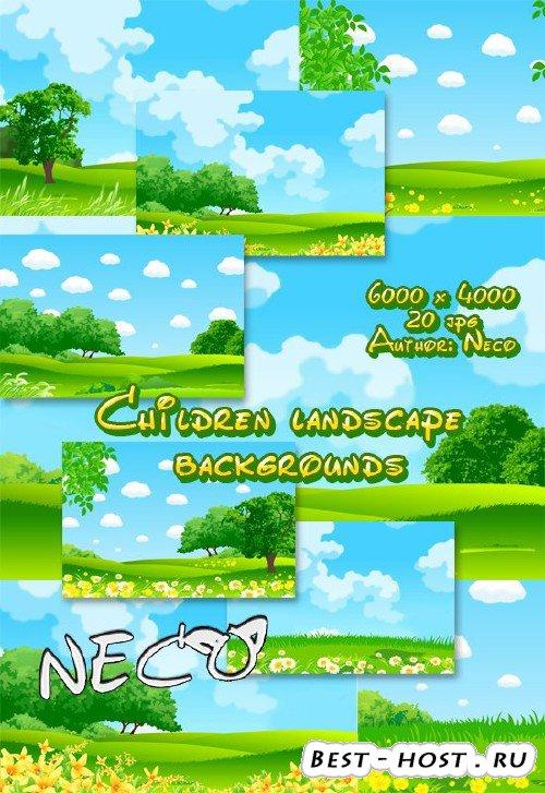 Children landscape backgrounds - Детские пейзажные фоны