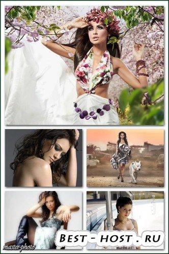 Набор женских шаблонов для фотошопа - Гламур 9