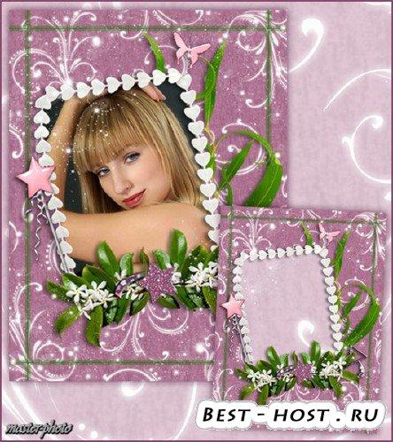 Романтическая рамка для фотошопа  - Свечение завитков