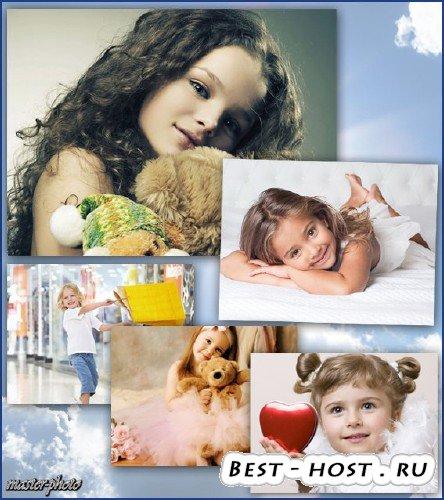 Шаблоны для фотошопа девочкам – Гламур 11