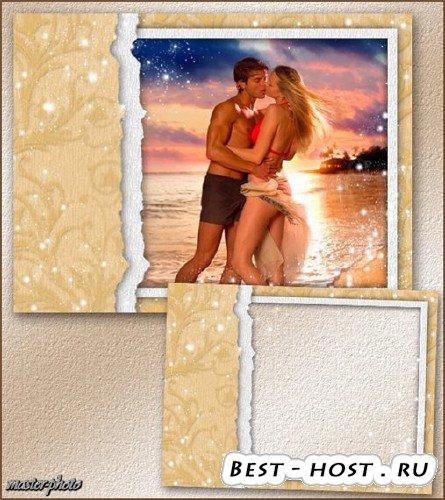 Рамка влюбленным для фотошопа – Романтический вечер