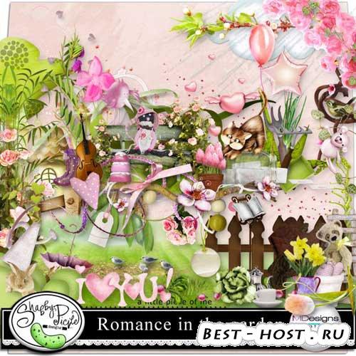 Яркий цветочный скрап набор - Романсы в саду