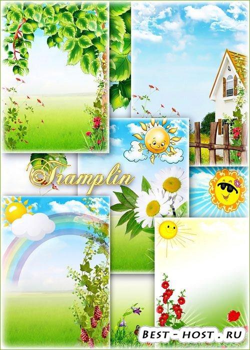 Красивые летние фоны -  Все вокруг зазеленело, заалело, засинело