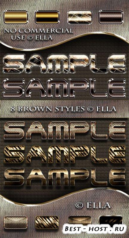 8 коричневых стилей для дизайна в программе Фотошоп