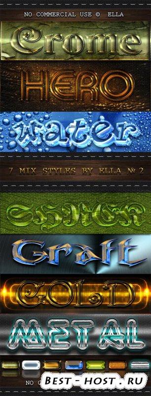 7 стилей МИКС дизайна Шрифтов  для вашего творчества в программе Фотошоп -  ...