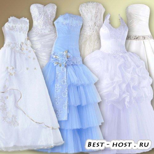 Клипарт для фотомонтажа – Свадебные платья