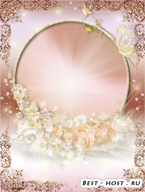 Рамка для фото - Нежная цветочная композиция