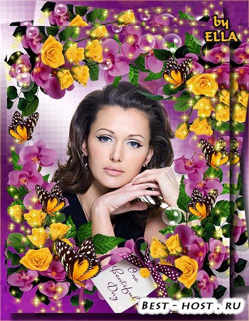 Цветочная рамка - Цветы глядят с тоской влюбленной