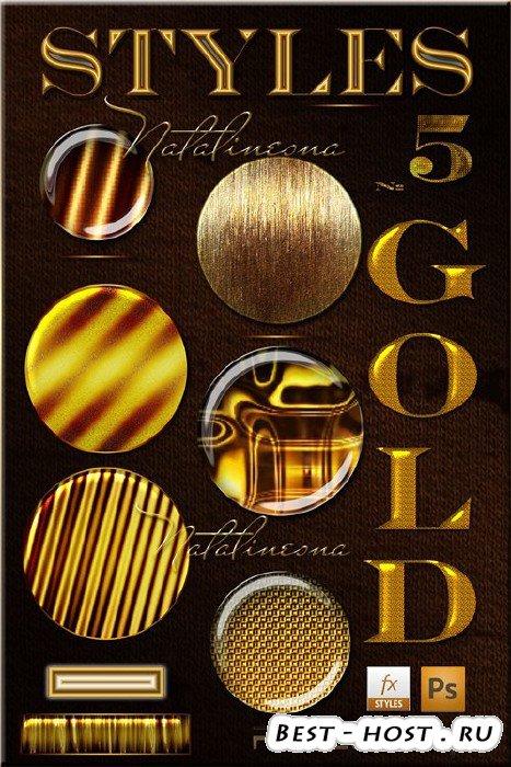 Золотые стили  для Photoshop 5/ Styles Gold Photoshop 5